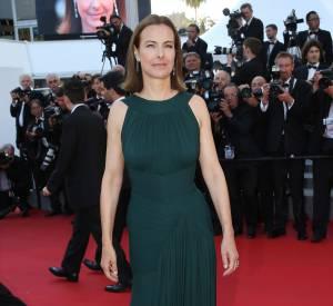 """Carole Bouquet lors la montée des marches du film """"The Little Prince"""", le 22 mai 2015 au 68ème Festival de Cannes."""
