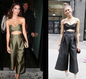 Emily Ratajkowski vs Zendaya : l'ensemble culotte bustier Solace London