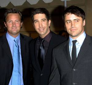 Matthew Perry, David Schwimmer et Matt LeBlanc, alias Chandler, Ross et Joey en 2002.