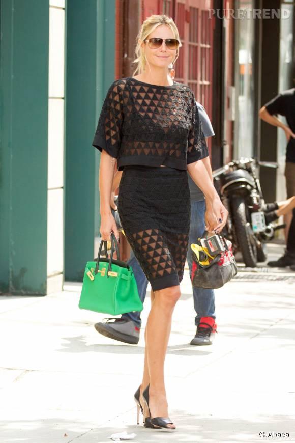 Heidi Klum ultra lookée pour une journée bien chargée à New York.