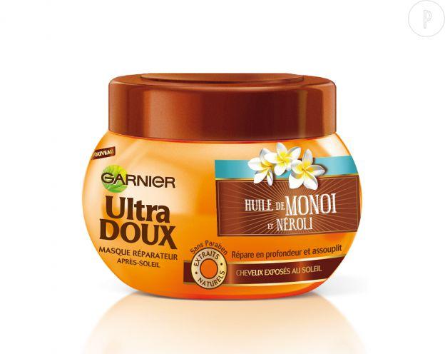 Masque Ultra Doux à l'huile de monoï et néroli de Garnier.