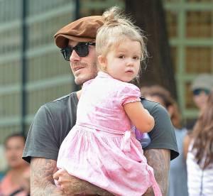 David Beckham : un vrai papa poule avec sa petite Harper