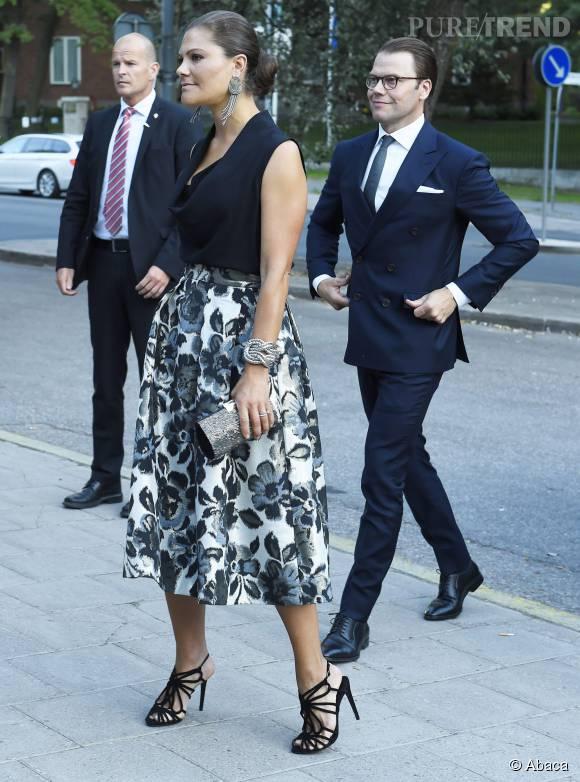 Princesse Victoria de Suède lors de l'anniversaire des 90 ans de Radio Sweden le 21 août 2015.