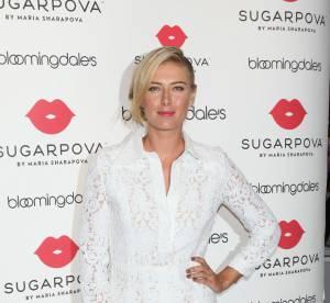 Maria Sharapova à croquer en mini robe blanche pour Sugarpova