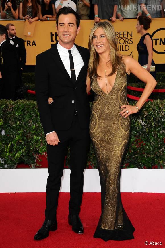 Jennifer Aniston et Justin Theroux, beaux et jeunes mariés.
