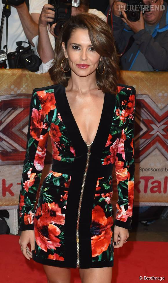 Cheryl Cole, beauté fatale en robe Balmain.