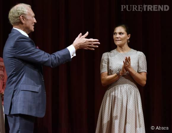 Princesse Victoria de Suède lors de la remise du prix Export Hermes le même jour.