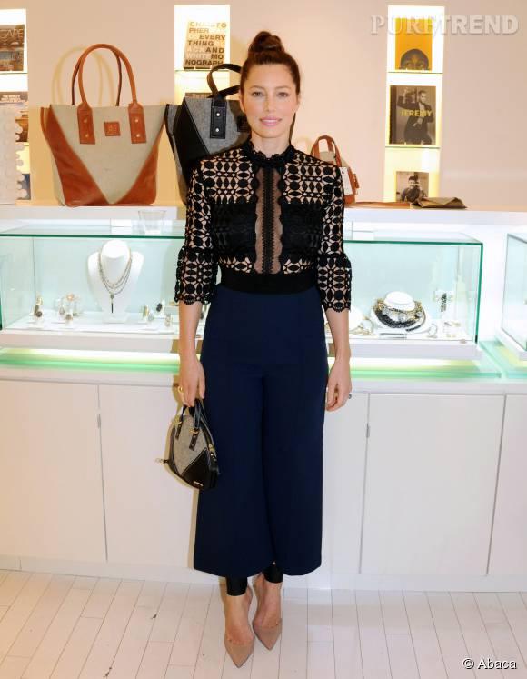 Jessica Biel, chic et glamour pour un come-back réussi.