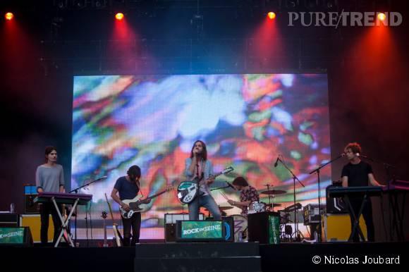 Très attendu, Tame Impala confirme son succès le 30 août 2015 à Rock en Seine.