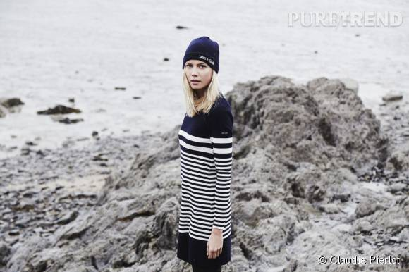 L'univers preppy de Claudie Pierlot rencontre l'univers marin de Saint James.