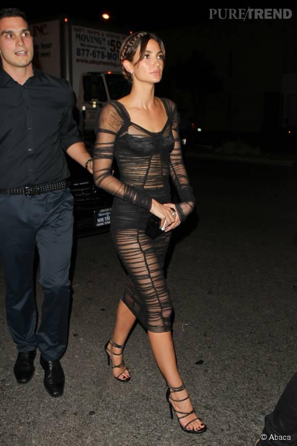 Lily Aldridge à l'after party des MTV VMA 2015.