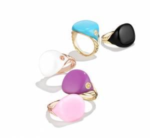 Bubblegum Pinky rings, l'irrévérence gourmande de David Yurman