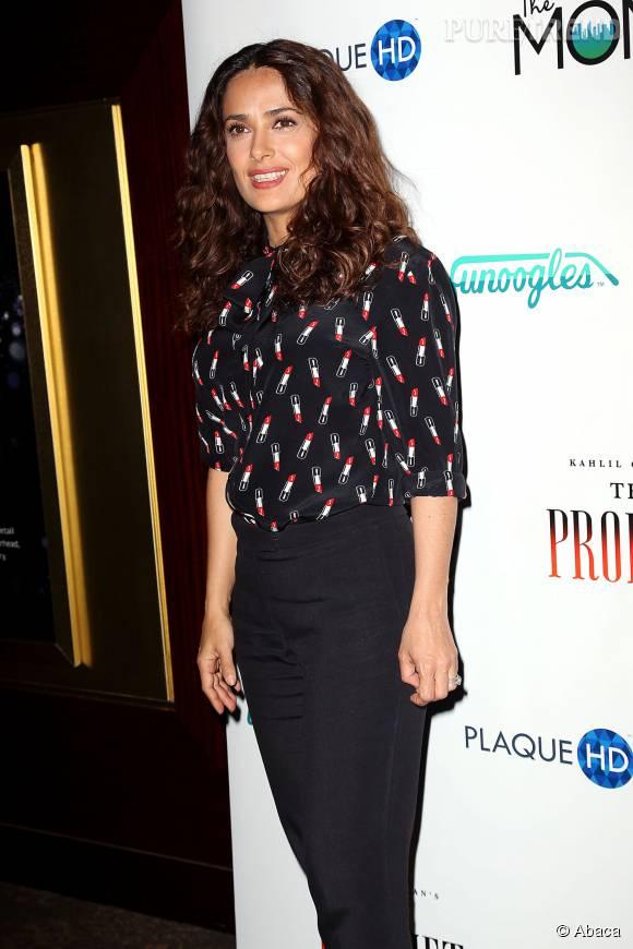 """Salma Hayek présentait récemment son nouveau film : """"Le Prophète""""."""
