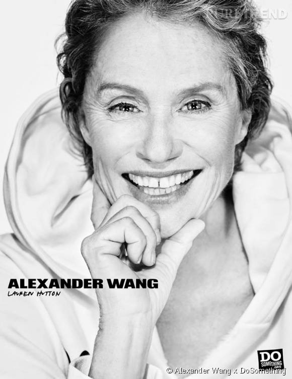 Lauren Hutton pour Alexander Wang x DoSomething.