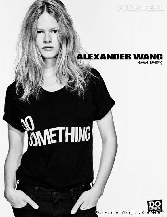 Anna Ewers pour Alexander Wang x DoSomething.