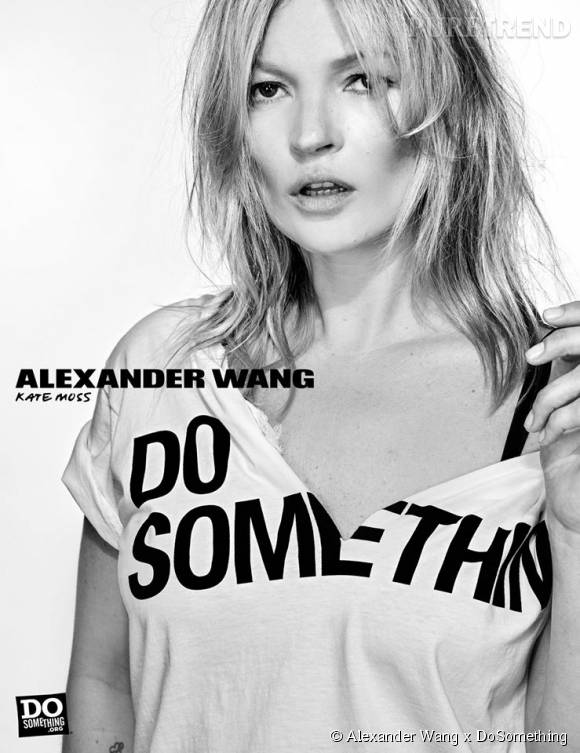 Kate Moss pour Alexander Wang x DoSomething.