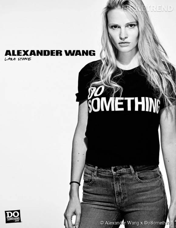 Lara Stone pour Alexander Wang x DoSomething.