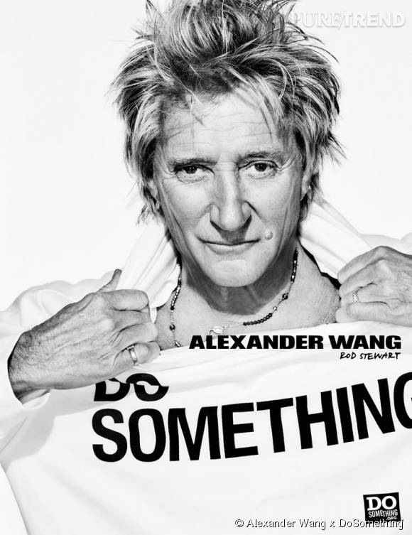Rod Stewart pour Alexander Wang x DoSomething.