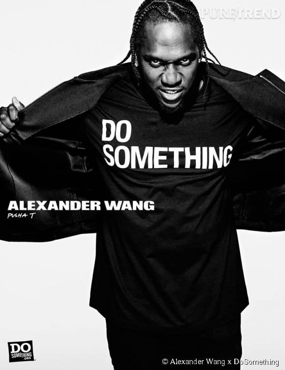 Pusha T pour Alexander Wang x DoSomething.
