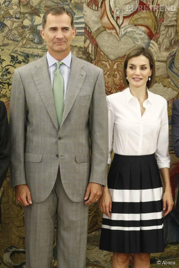 Le couple a retrouvé Madrid après trois semaines de vacanced à Majorque.