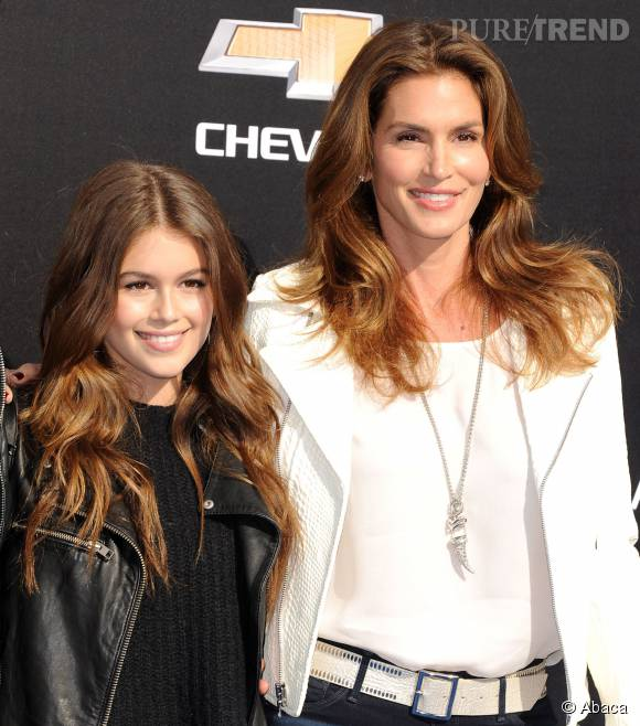 Cindy Crawford et sa fille de 13 ans, Kaia.