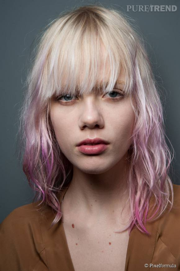 hair chalk la technique de coloration pour des cheveux roses pastel ou flashy sans - Coloration Violet Pastel