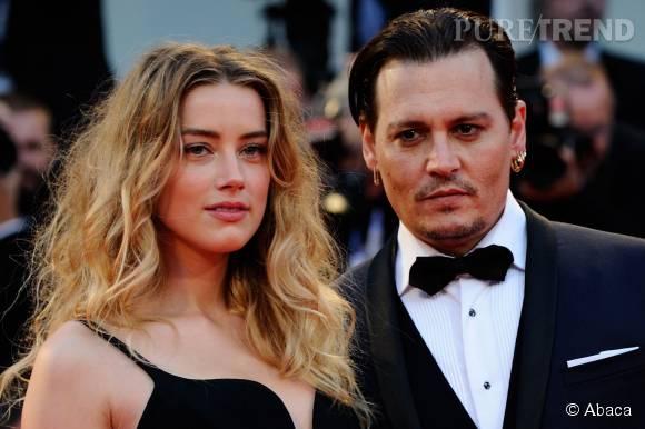 Johnny Depp et Amber Heard au 72ème festival de la Mostra de Venise, vendredi 4 septembre 2015.