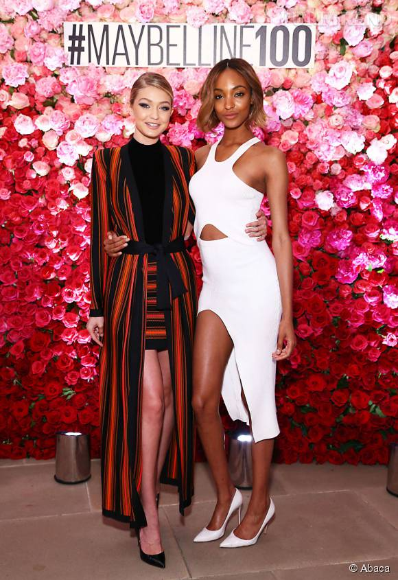 Gigi Hadid et Jourdan Dunn deux figures emblématiques Maybelline.