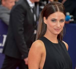 """Mélanie Bernier superbe dans sa petite robe noire à la première du film """"Everest"""" le 4 septembre 2015 au Festival de Deauville."""