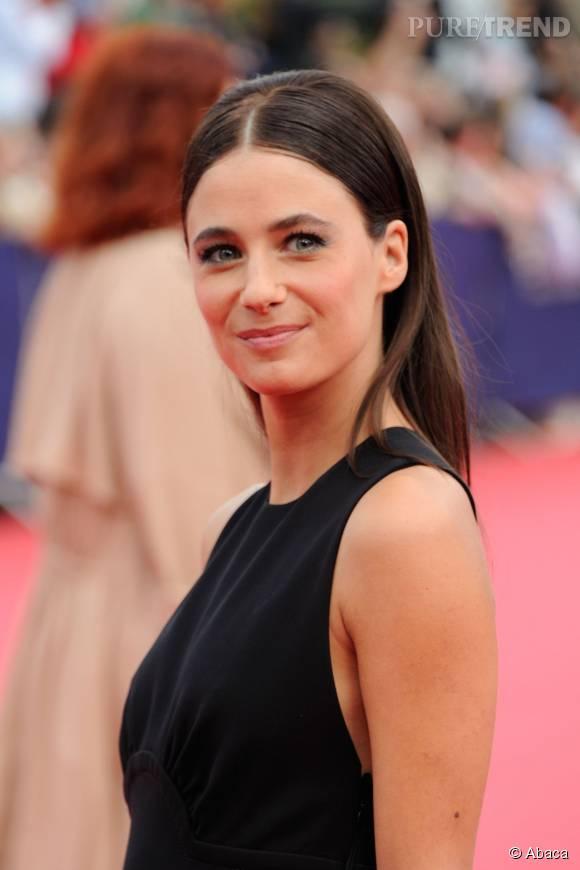 """Mélanie Bernier ose le beauty look 60's à la première du film """"Everest"""" le 4 septembre 2015 au Festival de Deauville."""