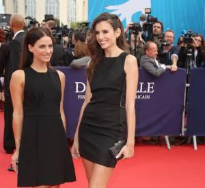 """Mélanie Bernier et Louise Monot à la première du film """"Everest"""" le 4 septembre 2015 au Festival de Deauville."""