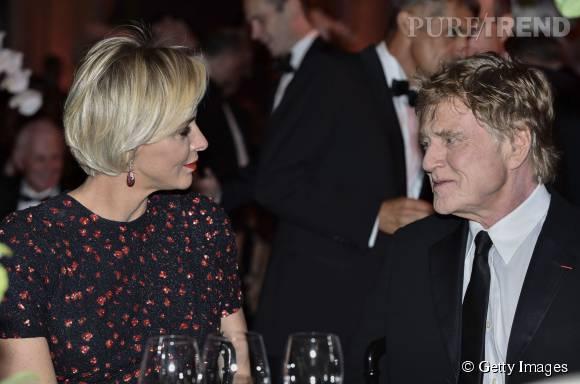 Charlène de Monaco et Robert Redford qui a reçu une récompense lors de cette préstigieuse soirée de gala.