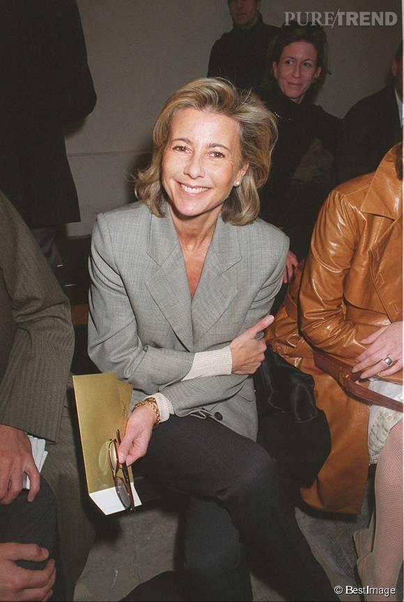 Claire Chazal au défilé Lanvin en mars 2000.