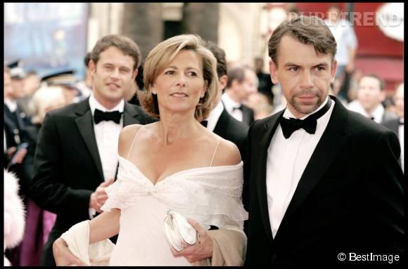 Claire Chazal et Philippe Torreton au 57ème Festival de Cannes, en 2004.