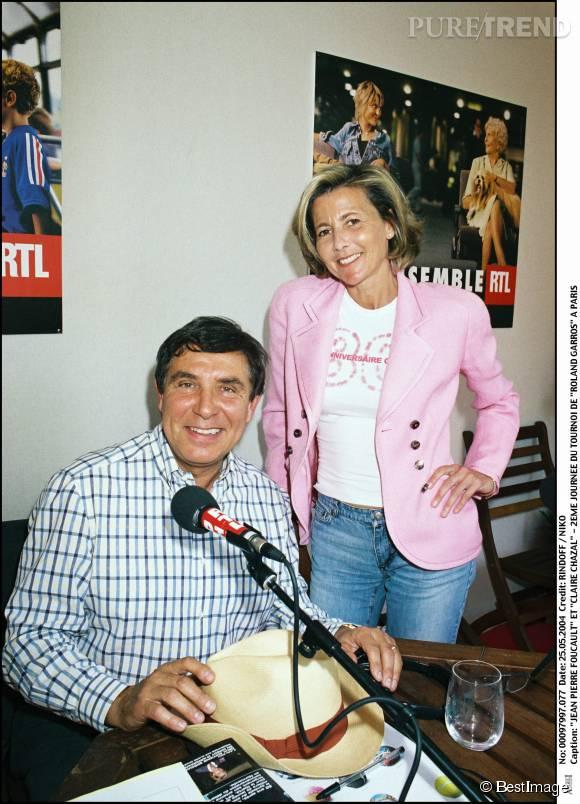 Claire Chazal et Jean-Pierre Foucault en 2004.