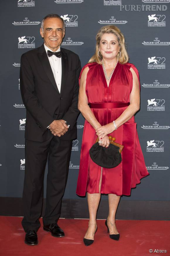 Catherine Deneuve aux côtés d'Alberto Barbera, président du festival.