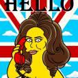 """Imaginée pour la sortie de son single """"Hello"""", la série comprend évidemment un dessin de la chanteuse au téléphone."""