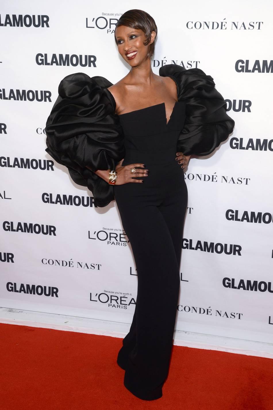 Iman Bowie aux Glamour Awards le 9 novembre 2015 à New York.