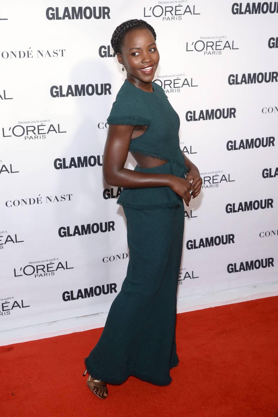 Lupita Nyong'o aux Glamour Awards le 9 novembre 2015 à New York.