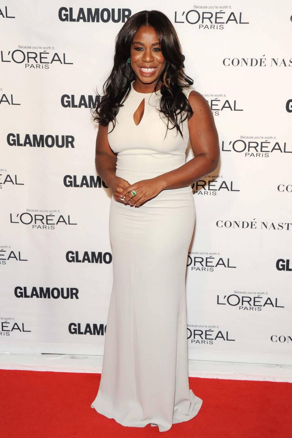 "Uzo Adubade ""Orange is the new black"" aux Glamour Awards le 9 novembre 2015 à New York."