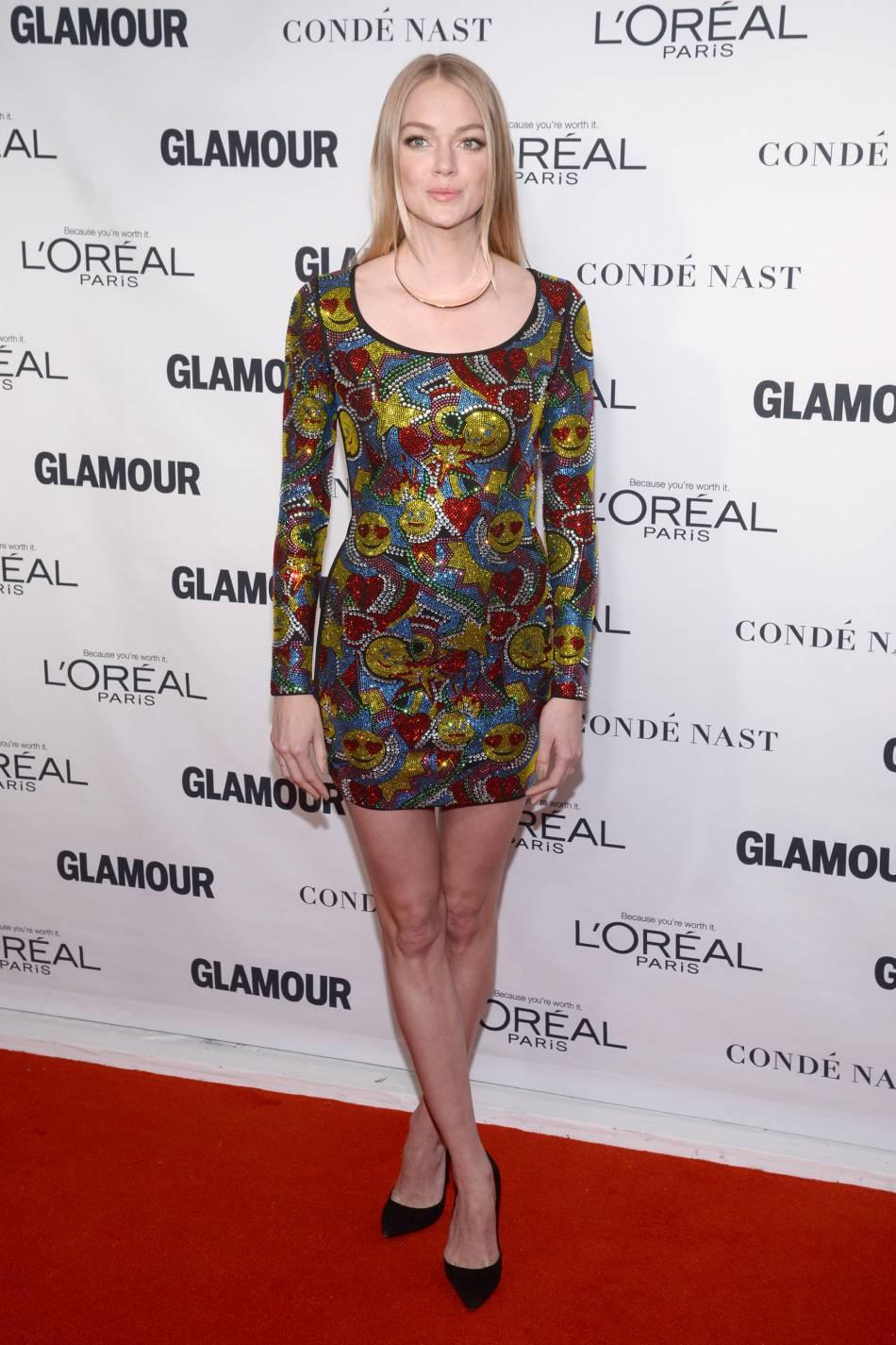 Le top Lindsay Ellingson aux Glamour Awards le 9 novembre 2015 à New York.