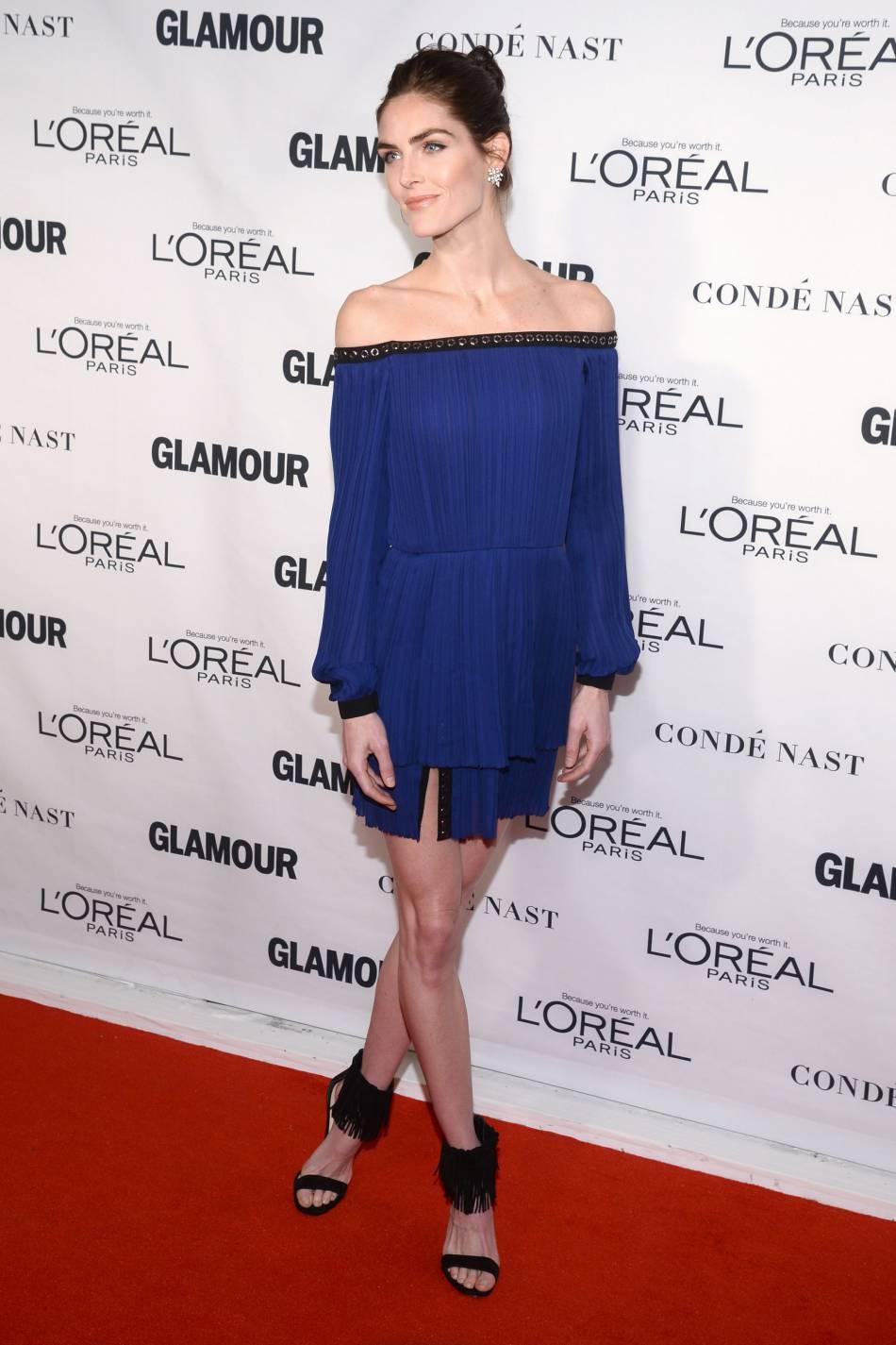 Hilary Rhoda aux Glamour Awards le 9 novembre 2015 à New York.