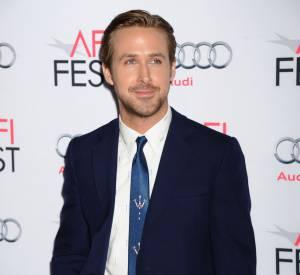 """Ryan Gosling, de retour sur tapis rouge avec l'avant-première de """"The Big Short : le Casse du siècle"""", ce jeudi 12 novembre 2015."""