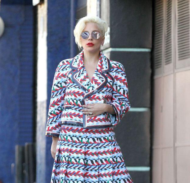 Lady Gaga dans les rues d'Hollywood le 14 novembre 2015.