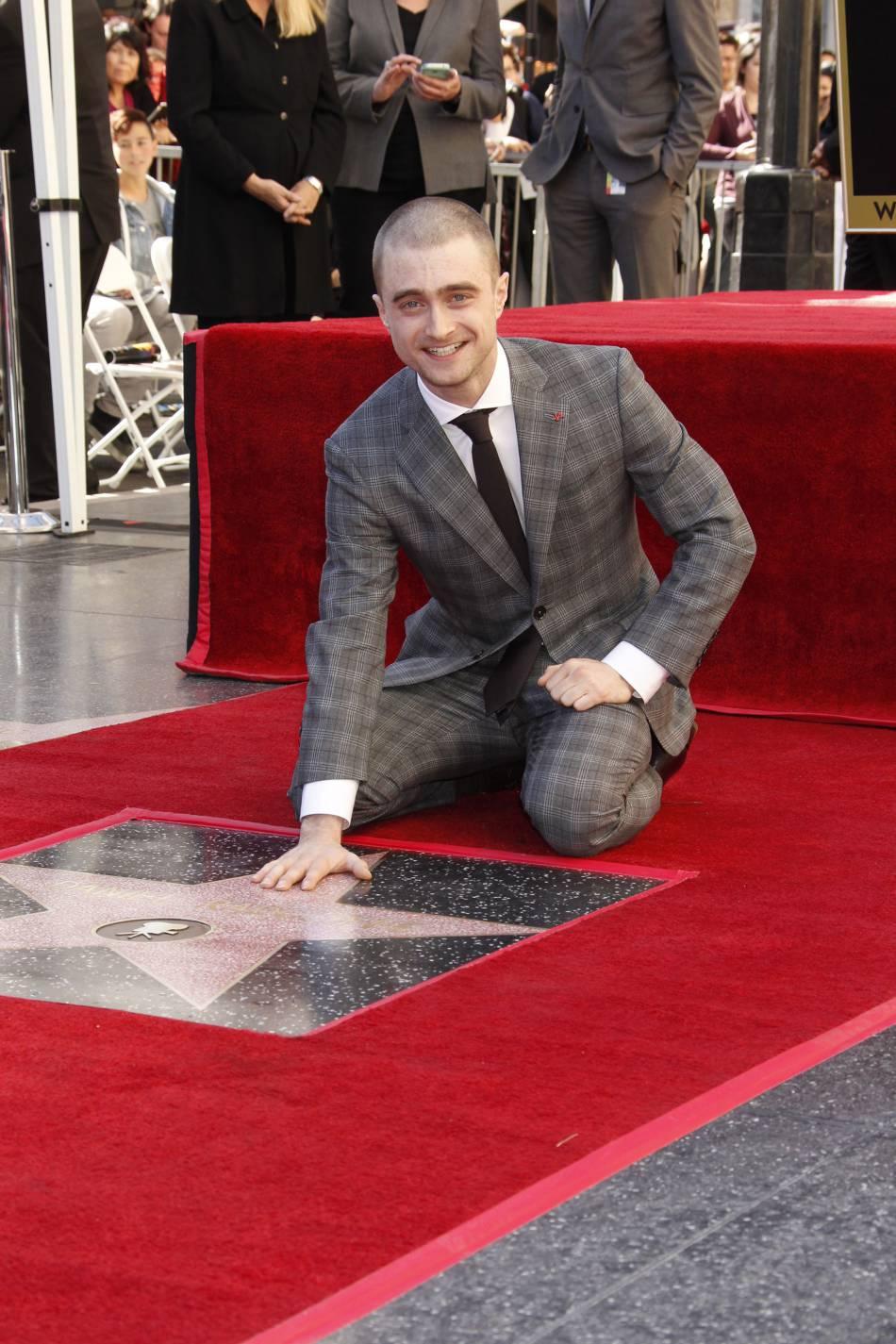 Daniel Radcliffe le 11 novembre dernier, lors de la remise de son étoile sur le Walk of fame d'Hollywood.