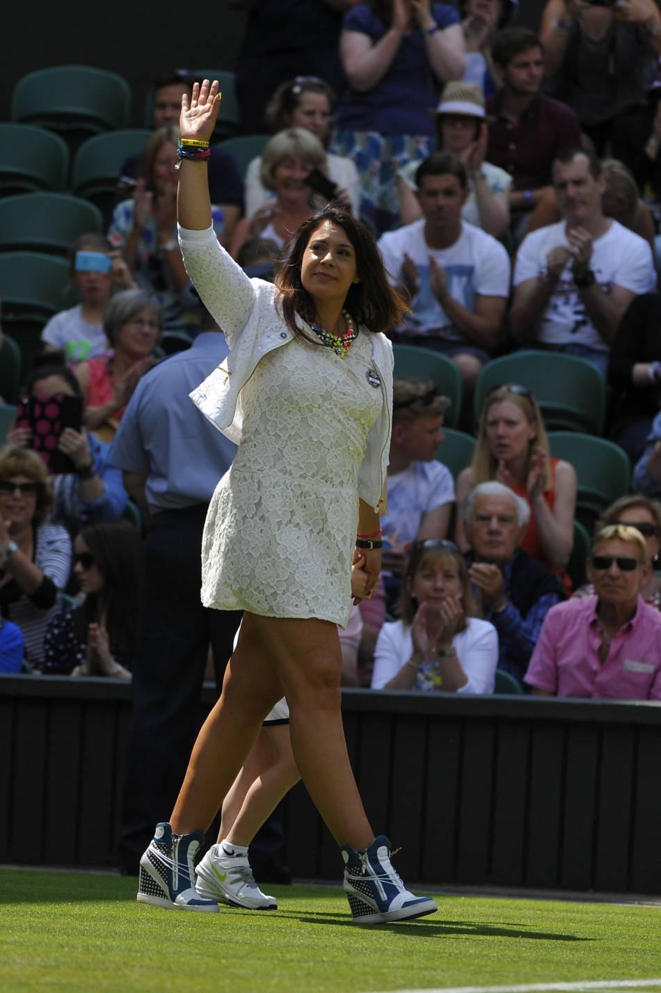 Marion Bartoli en juin 2014, lors de sa victoire au tournoi de Wimbledon.