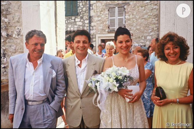 Jacques martin au mariage de son fils david dont il tait tr s proche - Marion game et son mari ...