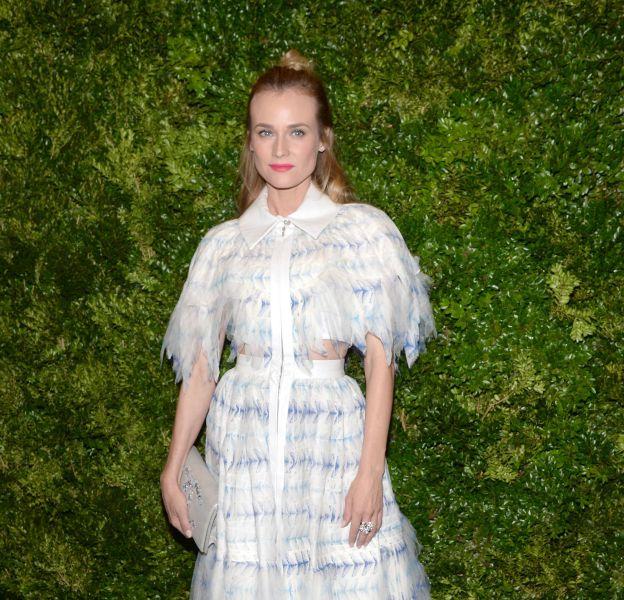Diane Kruger, sublime nymphe en Chanel et sandales Giuseppe Zanotti.