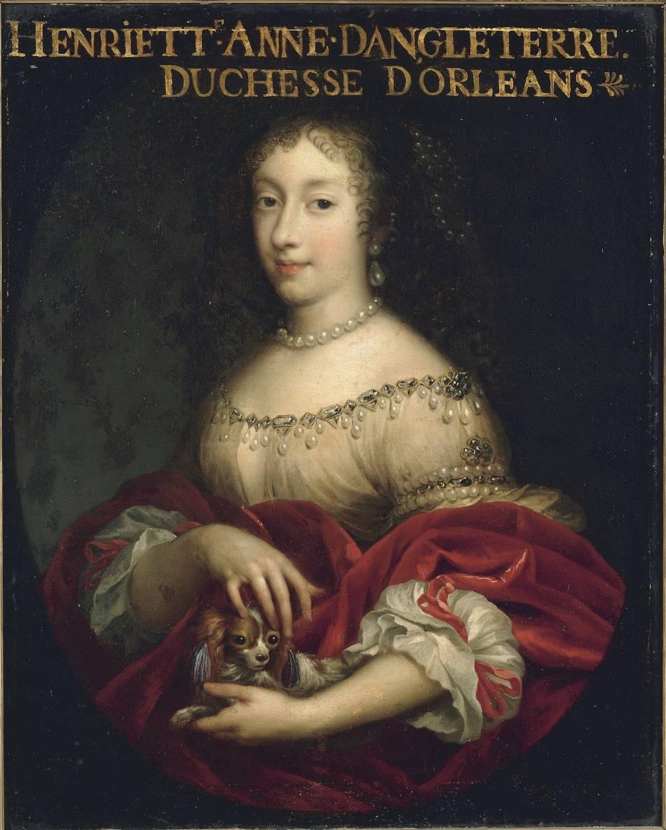 Henriette d'Angleterre, véritable passionnée de joaillerie et de perles de culture.