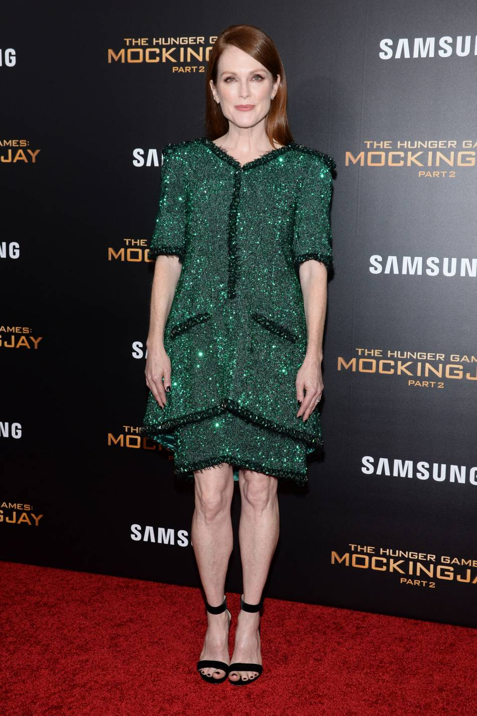 Julianne Moore, complètement sublime dans cette robe verte sur le red carpet.